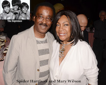 Spider Harrison and Mary Wilson of The Supremes