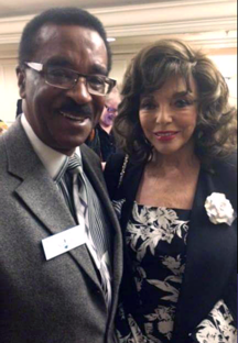DJ Spider Harrison with Joan Collins