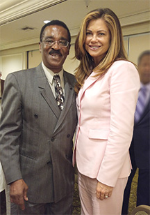 Spider and Super Model Kathy Ireland